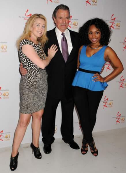 Melody Thomas Scott (Nikki Newman), Eric Braeden (Victor Newman) et Angell Conwell (Leslie)