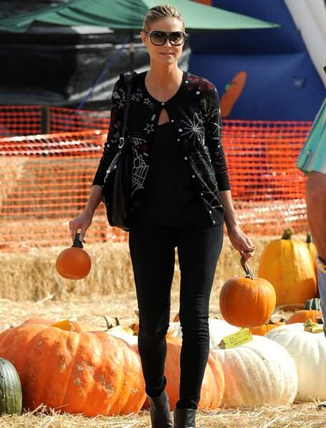 Heidi Klum au Mr Bones pumpkin patch, cette année