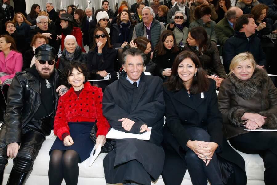 Défilé Chanel Haute Couture : Peter Marino, Jack et Monique Lang, et la maire de Paris Anne Hidalgo