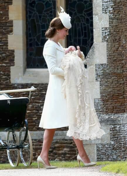 2015 Kate Middleton et la princesse Charlotte