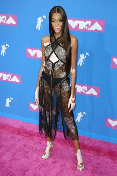 Winnie Harlow aux MTV Video Music Awards 2018, le 20 août, à New York