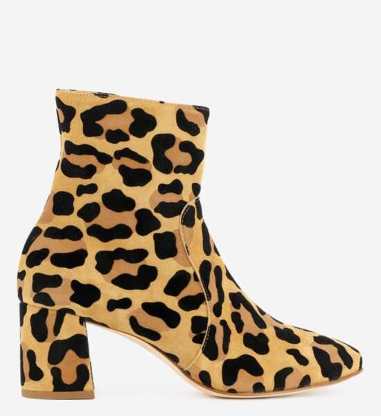 Bottines léopard, Anniel sur Galerieslafayettes.fr, 195€