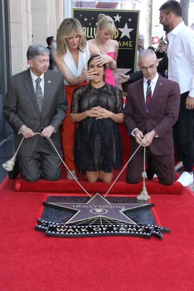 Felicity Huffman a fait des pieds et surtout des mains pour voler la vedette de la star de la journée