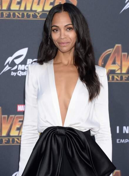 Première mondiale d'Avengers: Infinity War - Zoe Saldana