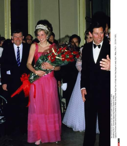 Lady Di en voyage officiel en Italie en 1985