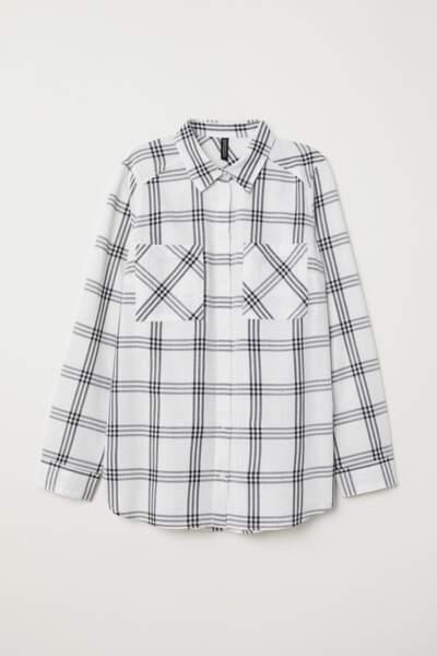 Chemise à carreaux, H&M, 4,99 euros au lieu de 14,99 euros