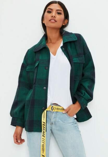 Veste oversize à carreaux, Missguided, 75€