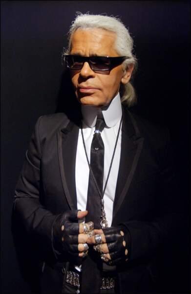 L'évolution physique de Karl Lagerfeld : le créateur en 2005