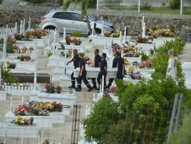 Obsèques de Johnny Hallyday à Saint-Barth : les larmes de Laeticia, Laura et David très unis