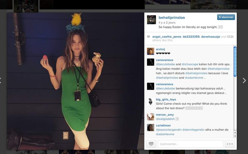 Behati Prinsloo, l'épouse du chanteur de Maroon 5 Adam Levine était à croquer...