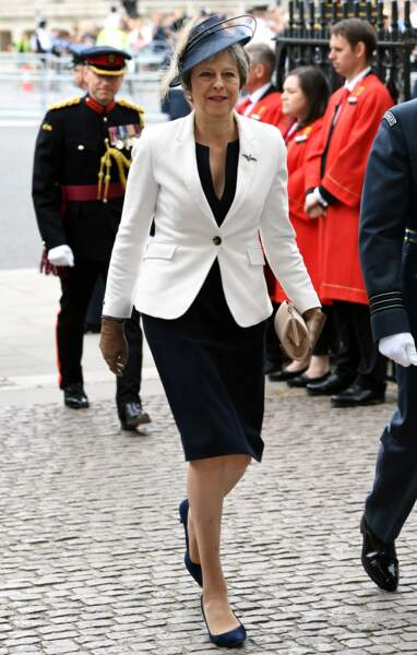 Theresa May, au centenaire de la Royal Air Force, à Londres