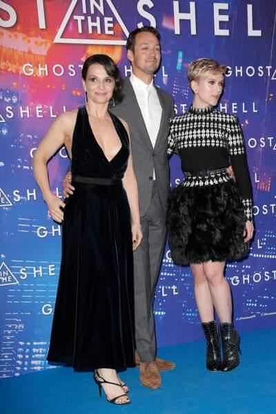 Avant-première de Ghost in the Shell : Juliette Binoche, Rupert Sanders et Scarlett Johansson