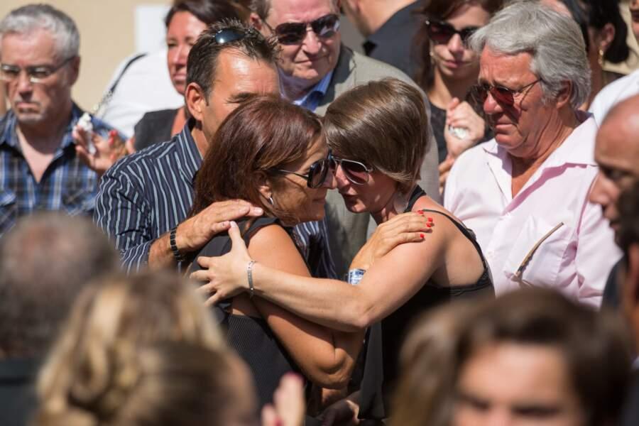 La mère de Jules Bianchi (à gauche)