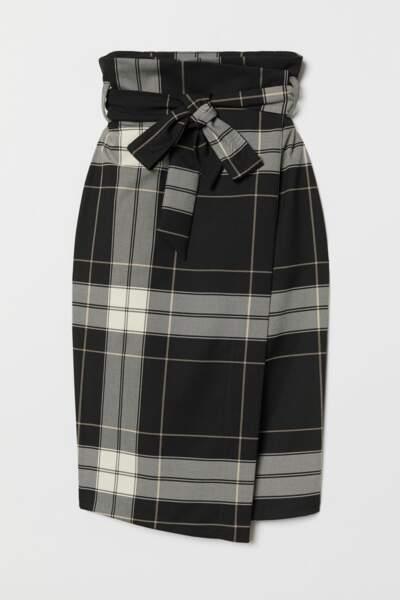 Jupe croisée avec ceinture, H&M, 29,99€