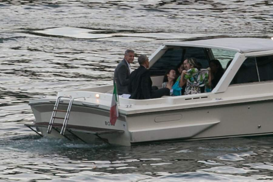 Barack et Michelle Obama, et George et Amal Clooney sont allés dîner au restaurant Villa d'Este, en Italie