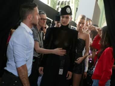 Bella Hadid chez Alexandre Vauthier pour la Fashion Week