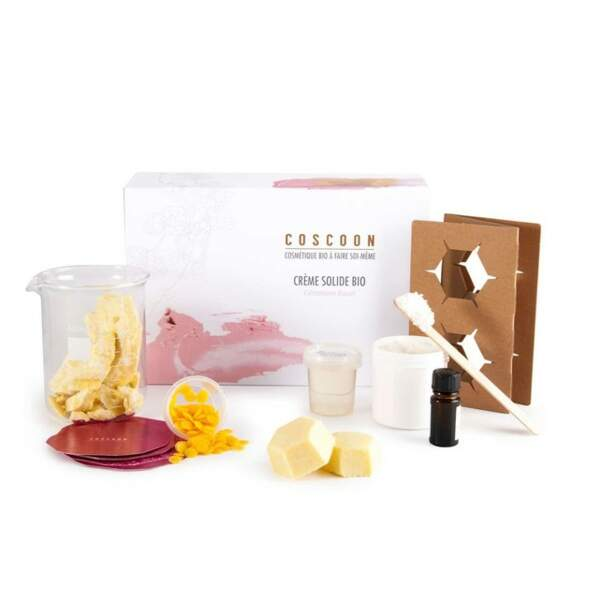 Coffret DIY crème solide bio, Coscoon chez Nature et découvertes, 40€