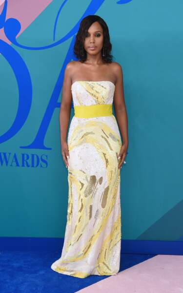 CFDA Fashion Awards 2017 - L'irrésistible Kerry Washington pas super joyeuse