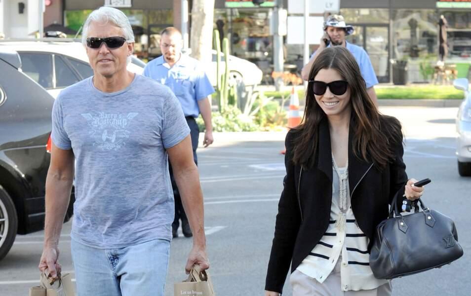 Jessica Biel et son papa