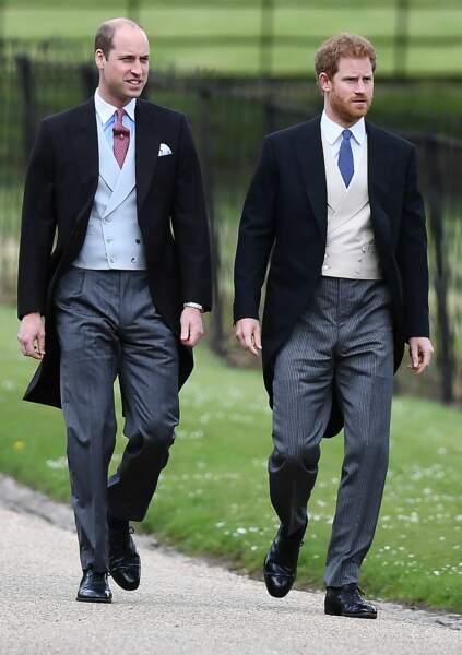 Le prince William et son frère le prince Harry
