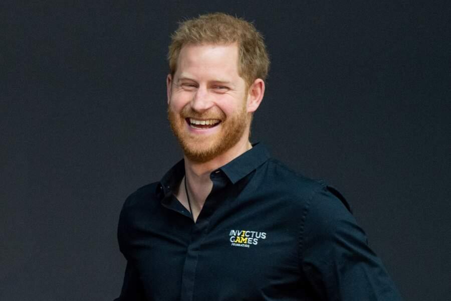 Malgré la distance qui le sépare de Meghan et Archie, le prince a fait preuve d'une bonne humeur réjouissante