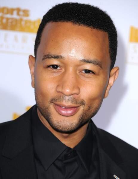 John Legend est venu se rincer l'oeil, le coquinou...