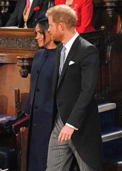 Meghan Markle et le prince Harry au mariage de la princesse Eugenie et Jack Brooksbank