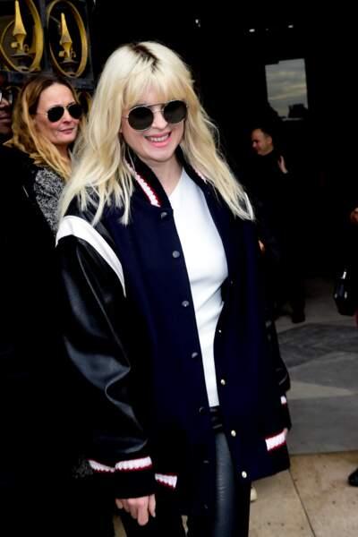 Cécile Cassel, au défilé Stella McCartney lors de la fashion week de Paris, le 5 mars 2018