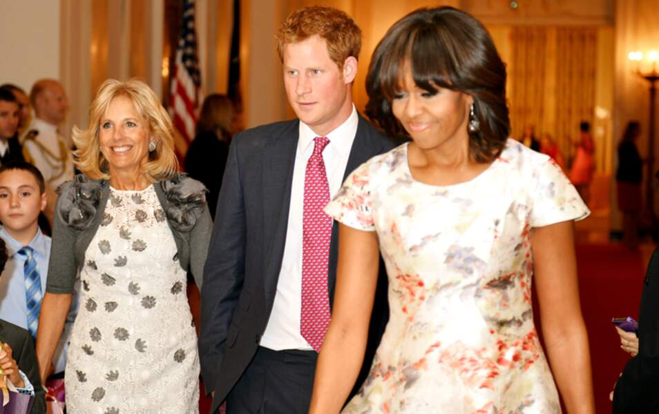 Jill Biden, le prince Harry et Michelle Obama
