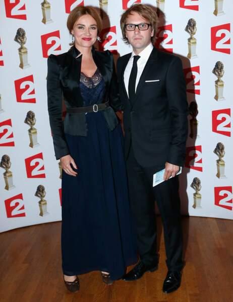 Florian Zeller, avec sa femme Marine Delterme, a remporté le Molière du meilleur spectacle du théâtre privé