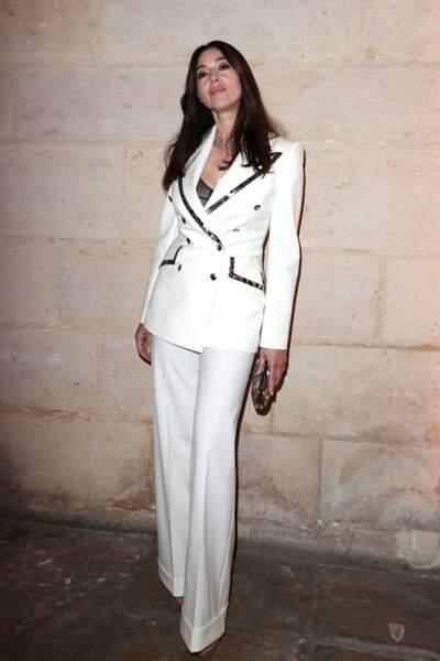 Monica Bellucci au dîner Cartier, le 10 avril 2019 à la Conciergerie de Paris