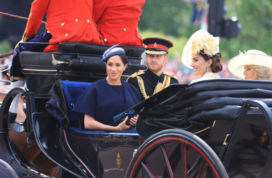Prince Harry et Meghan Markle à Trooping the Colour, Londres