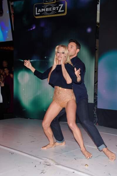 Pamela Anderson et Maxime Dereymez au Monday Night « Rockin Chocolate », Cologne