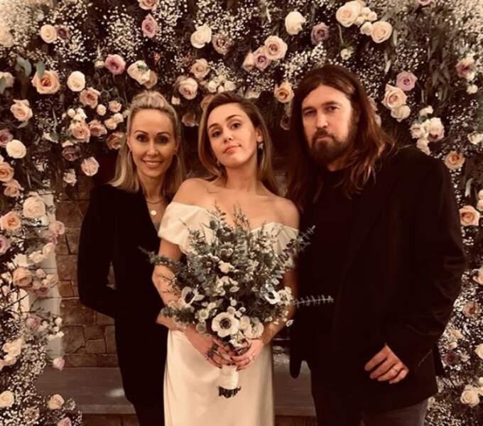 Miley Cyrus et ses parents Tish et Billy Ray Cyrus