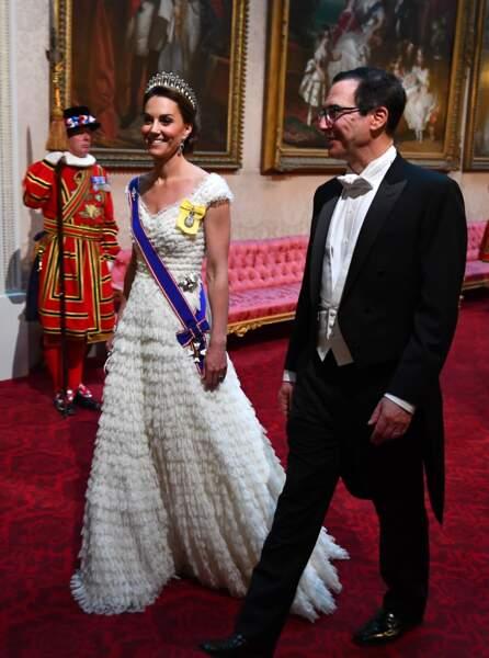 Kate Middleton et Stephen Mnuchin au banquet d'Etat organisé à Buckingham Palace