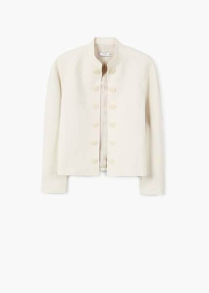 Veste à boutons contrastants, Mango, 34,99€ au lieu de 69,99€