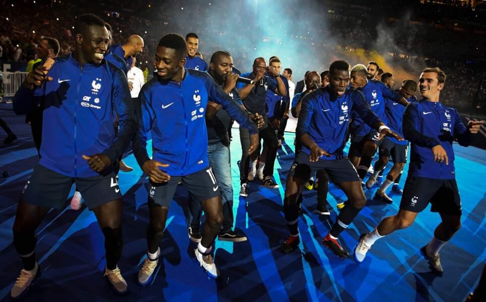 Les Bleus à la fin de France/Pays-Bas, le 9 septembre
