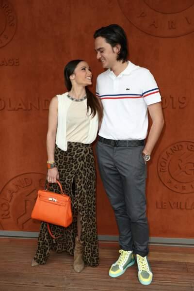 Alain-Fabien Delon et Capucine Anav à Roland-Garros
