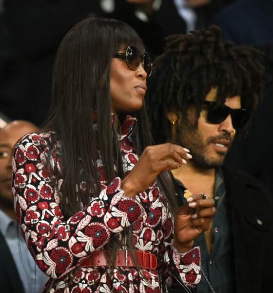 Les people au match PSG vs Bayern de Munich : Naomi Campbell et Lenny Kravitz