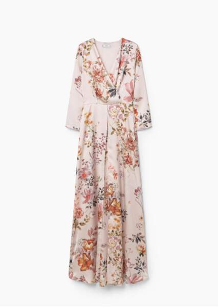 Mango robe longue florale 99,99 euros