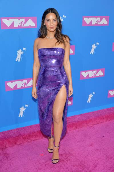 Olivia Munn aux MTV Video Music Awards 2018, le 20 août, à New York