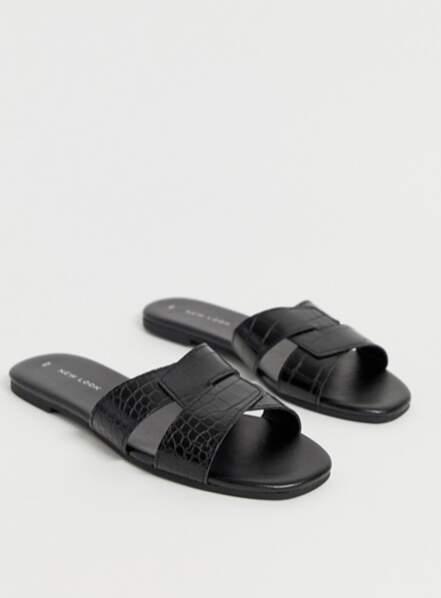 Sandales mules à brides croisées, New look, 14,49€ chez Asos