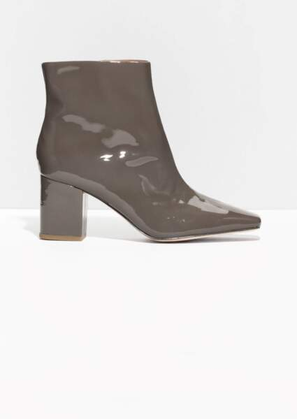 Bottines vernies grises, & Other Stories, 145€
