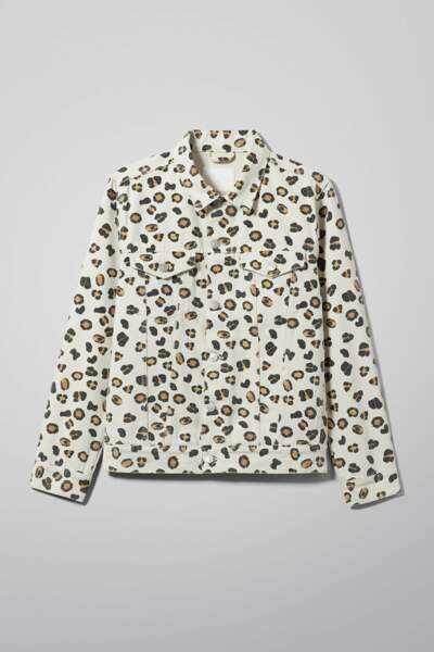 Veste léopard, Weekday, 60€