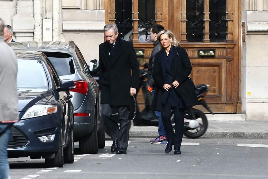 Bernard Arnault et sa femme Hélène Mercier