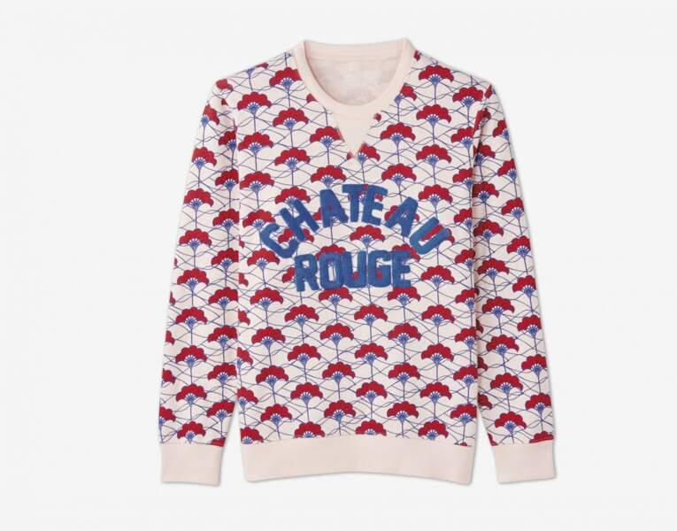 Sweat 100% coton Monoprix x Maison Château Rouge, pour femme 45 euros, pour enfants 30 euros