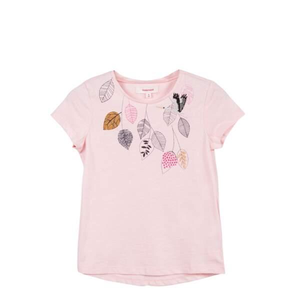 T-shirt rose. En jersey, du 2 au 14 ans, à partir de 25 €, Catimini