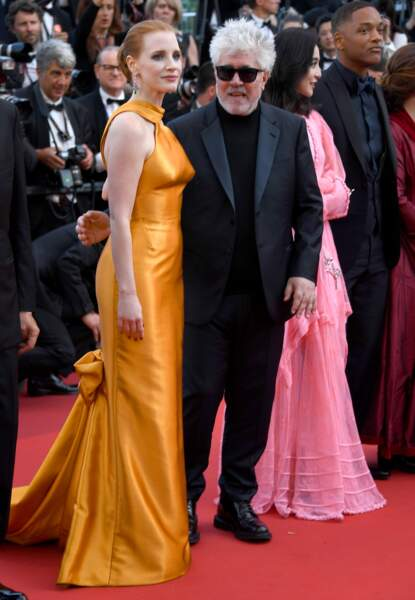 Cannes - Montée des Marches pour le 70ème anniversaire : Jessica Chastain & Pedro Almodovar