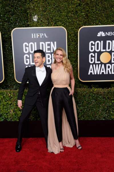 76ème cérémonie des Golden Globes : Rami Malek et Julia Roberts