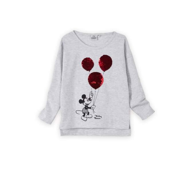 T-shirt à sequins. 12,99 €, Vertbaudet x The Walt Disney Company